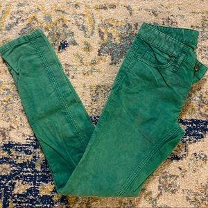 FREE PEOPLE Green Corduroy Pants